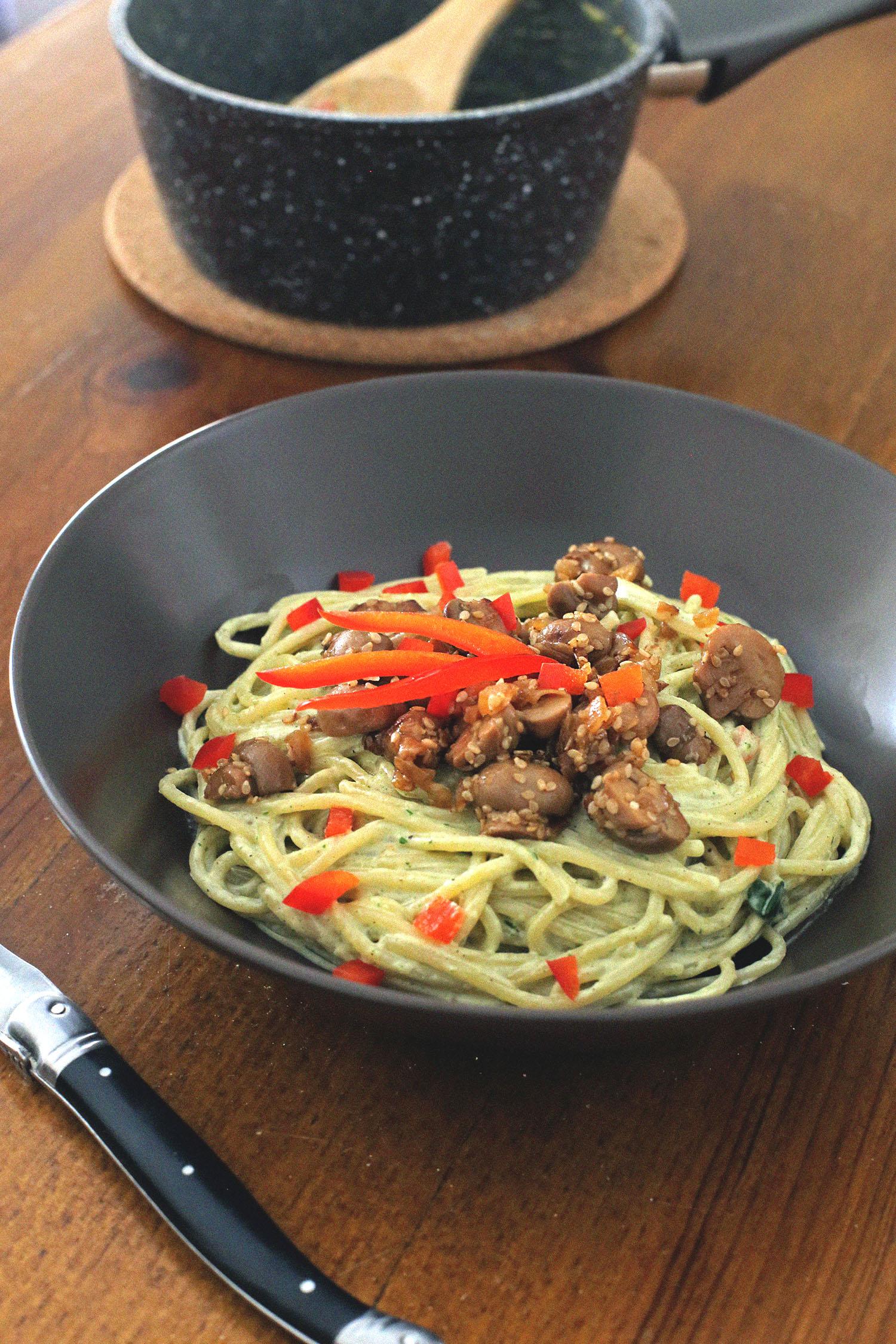 Lady-Biche-spaghetti-basilic-poivron-2